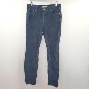 Free People Navy Blue Corduroy Pants Skinny 28